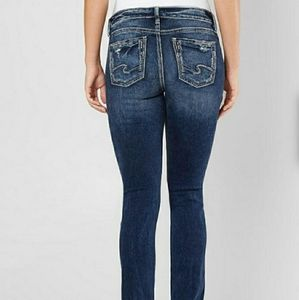 Silver Elyse Straight Jeans Women's Size 28 × 29.5